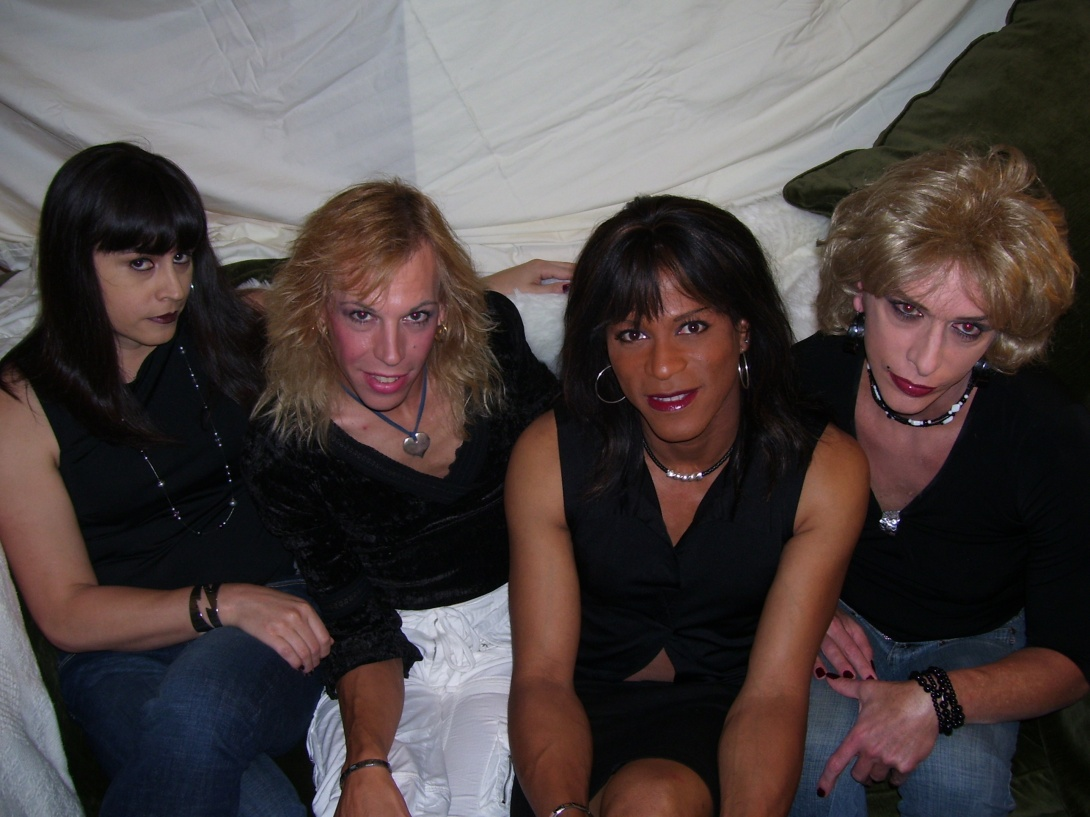 Lipstick Conspiracy Press Photo, 2009.  Sarafina, Syndi, Shawna and Marilyn.  Taken somewhere in Potrero Hill, San Francisco (reportedly Sarafina's couch).  Photo by Andrea.