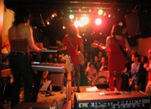 Lipstick Conspiracy, somewhere in San Francisco, circa 2005. Tori, Shawna and Sarafina. Photo by Shausta.